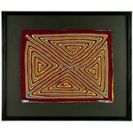 Framed Panama Kuna Mola Triangle Maze