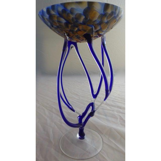 Josefina, Krosno Poland Footed Glass Compote - Image 2 of 8