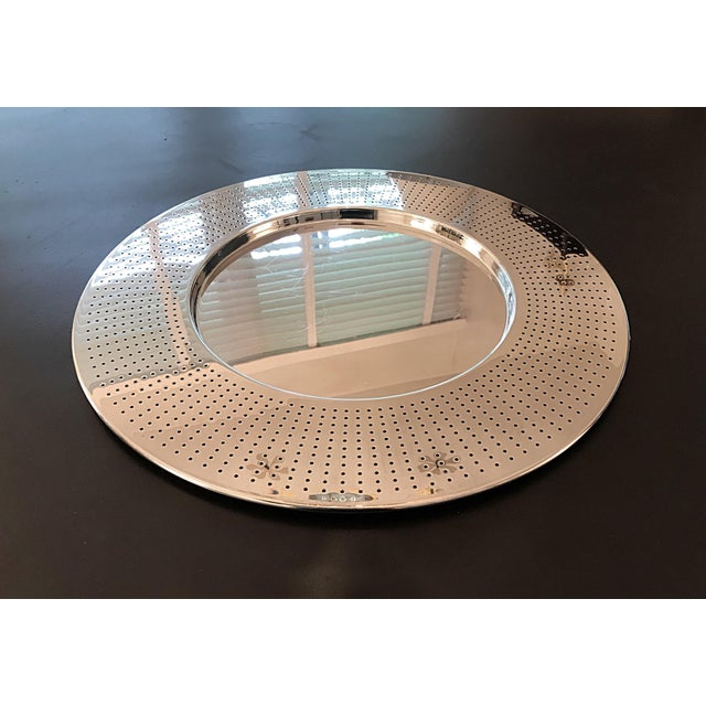 Alessi Round Polished Stainless Steel Tray For Sale - Image 9 of 12