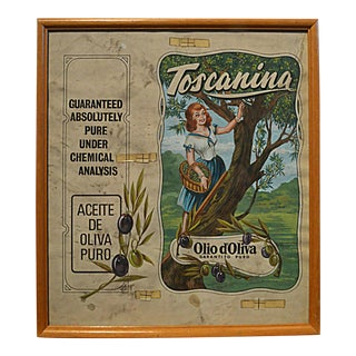 Graphic Illustration Board for Olive Oil Can Label