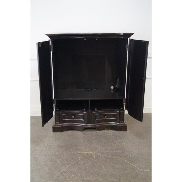 Hooker Furniture Seven Seas Black TV Armoire Cabinet For Sale - Image 5 of 10