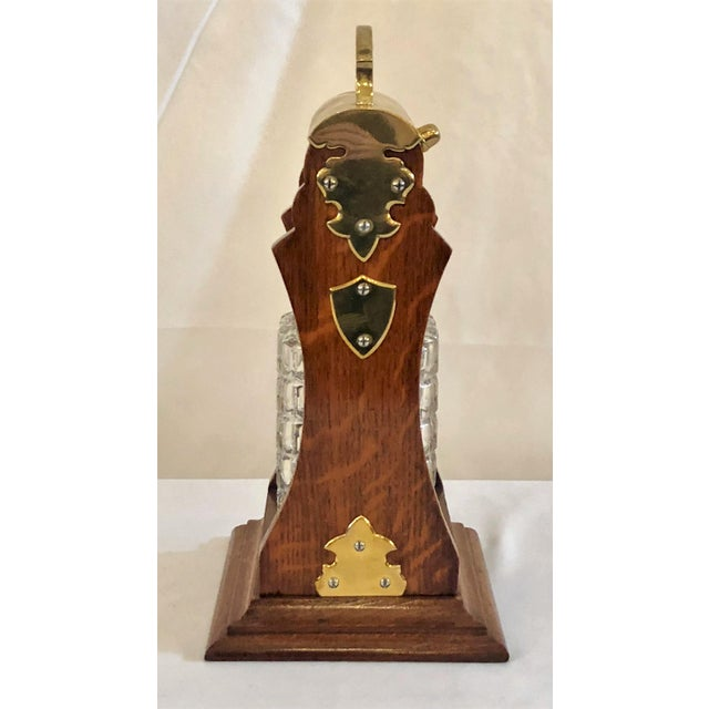 English Antique English Brass Mounted Single Bottle Tantalus, Circa 1890-1900. For Sale - Image 3 of 4