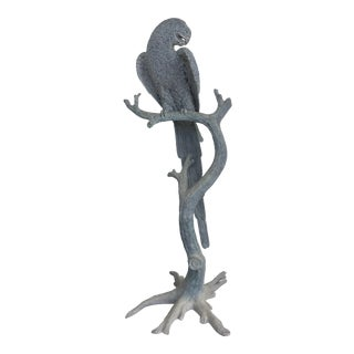 Large Metal Parrot Statue For Sale
