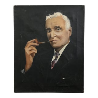 Portrait of Man Smoking Pipe Painting For Sale