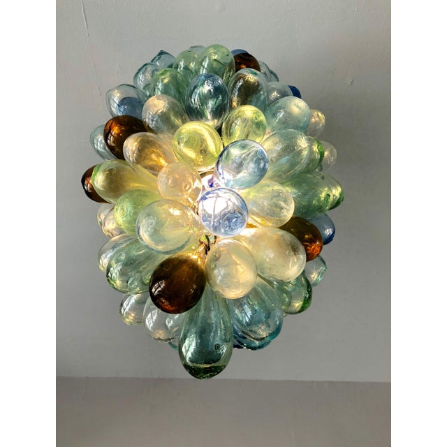 2010s Multicolored Hand-Blown Glass Light Fixture For Sale - Image 5 of 7