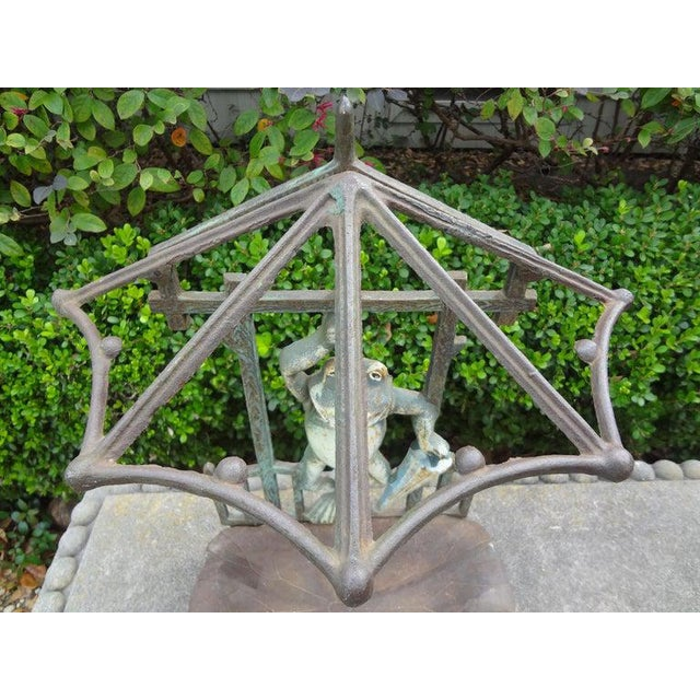 French Art Nouveau Wrought Iron Umbrella Stand For Sale In Houston - Image 6 of 12