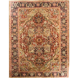 "Antique Persian Heriz Rug-8'4"" X 11' For Sale"