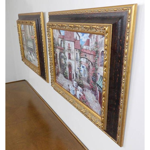 Italian Trattoria Framed Art Prints - A Pair For Sale - Image 5 of 6