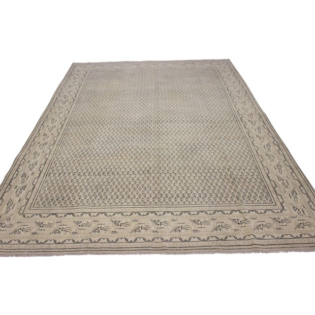 Tan Vintage Hand-Woven Overdyed Rug - 6′2″ × 9′2″ - Image 1 of 9