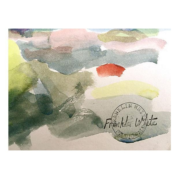 Franklin White Watercolor Landscape Painting - Image 3 of 4
