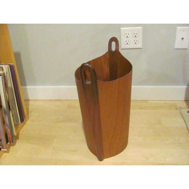 P. S. Heggen Vintage P. S. Heggen Teak Waste Basket Designed by Einer Barnes For Sale - Image 4 of 9