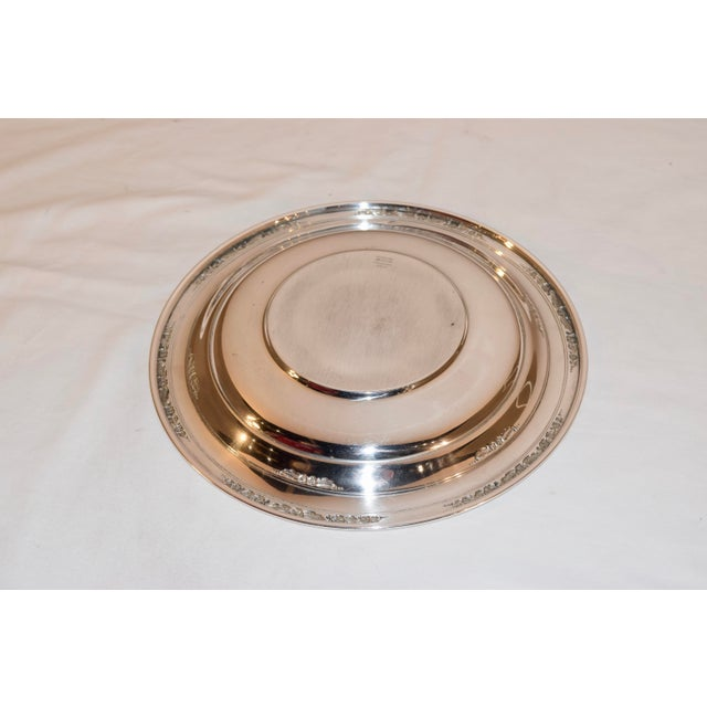 International Silver Sterling Sandwich Plate, Circa 1936 For Sale - Image 4 of 7