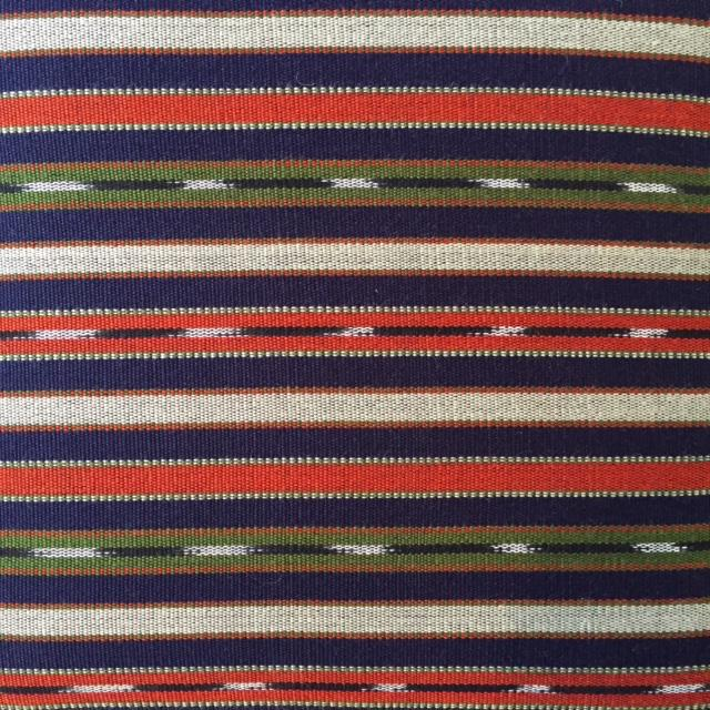 Wood 19th Century Vintage French Wood and Striped Fabric Footstool For Sale - Image 7 of 9