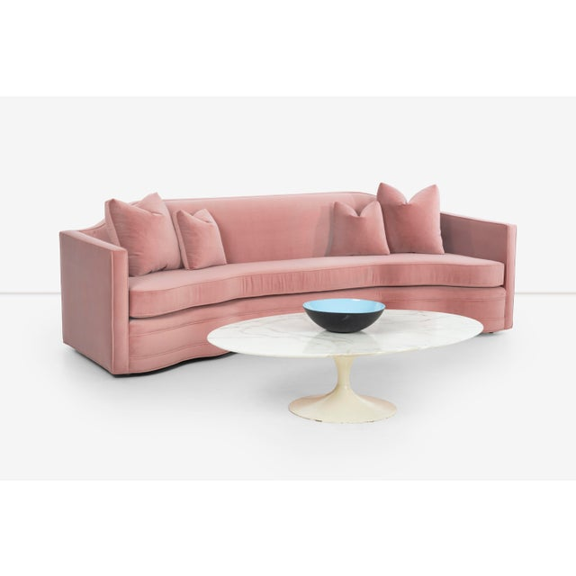 1950s 1950s Vintage Pink Ripple Sofa For Sale - Image 5 of 13