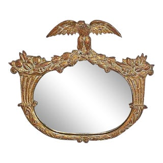 Gilt Eagle Motif Wall MIrror For Sale