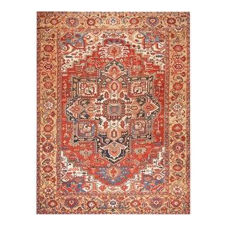 "Antique Persian Heriz Rug 11'6"" X 15'8"" For Sale"