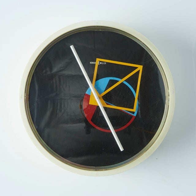 The seller says: Geometric wall clock by George Nelson for Howard Miller, circa 1960. The hands that keep the time on this...