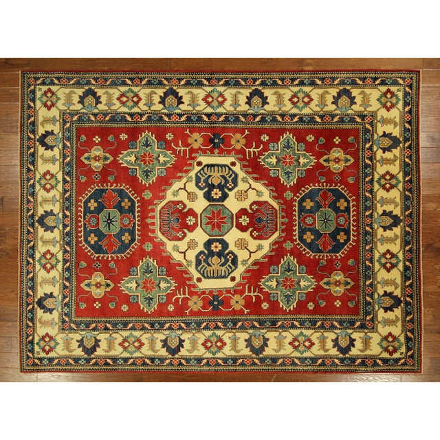 Traditional Super Kazak Rug Red- 8' x 11' - Image 2 of 11