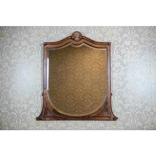 20th-Century Crystal Mirror in a Wooden Frame (1927) For Sale - Image 13 of 13