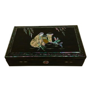 Japanese Mop Lacquer Incense Box
