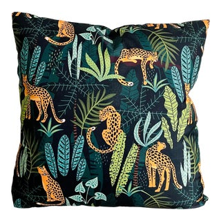 Tommy Bahamas Tropical Jungle Print Pillow For Sale