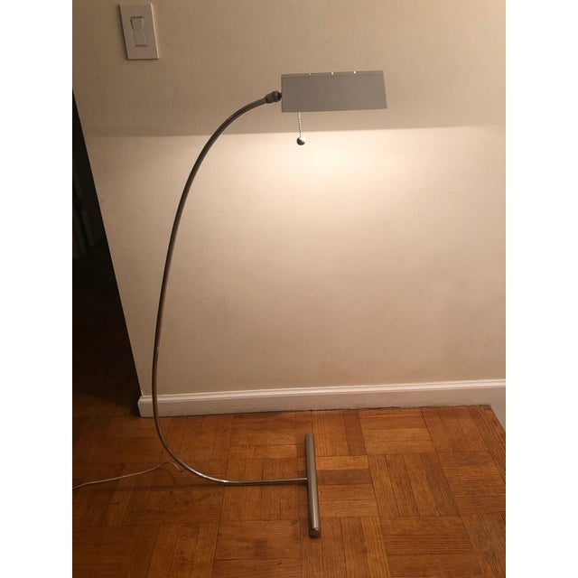 Lights 1970s Vintage Arched Mid-Century Chrome Floor Lamp For Sale - Image 7 of 10