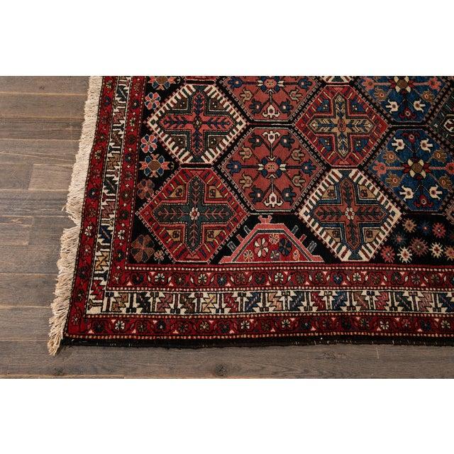 Vintage Bakhtiari Wool Rug 4'4'' X 7'2'' For Sale In New York - Image 6 of 12