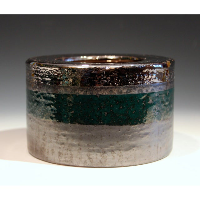Vintage Bitossi Londi Raymor Metallic Vase For Sale - Image 10 of 11