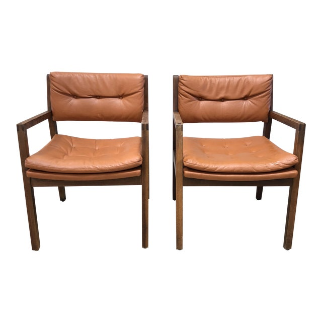 Marvelous Mid Century Modern Leather Chairs A Pair Pdpeps Interior Chair Design Pdpepsorg