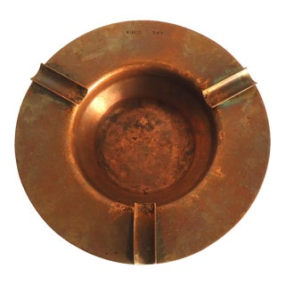 Vintage Industrial Copper Ashtray For Sale