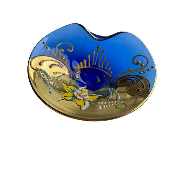 Mid 20th Century Murano Hand Painted Dish For Sale - Image 5 of 5