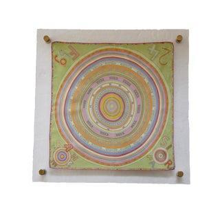 Modern Acrylic Framed Hermes Silk Scarf