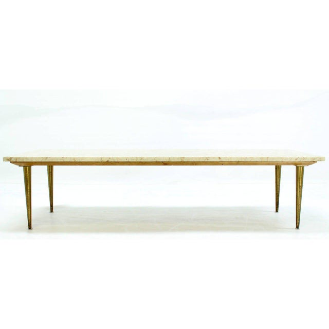 Mid-Century Modern Marble Coffee Table For Sale In New York - Image 6 of 8