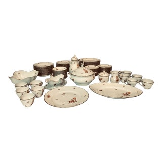 Meissen Golden Coral China Set by Winterling Oscar Schaller For Sale