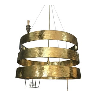 Roxy Pendant in Hammered Gold by Arteriors For Sale