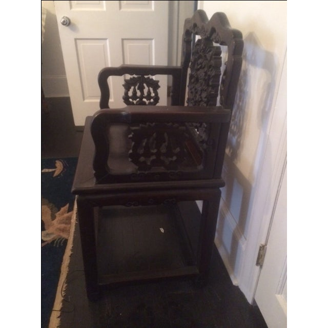 Antique Chinese Throne Chair For Sale - Image 4 of 8