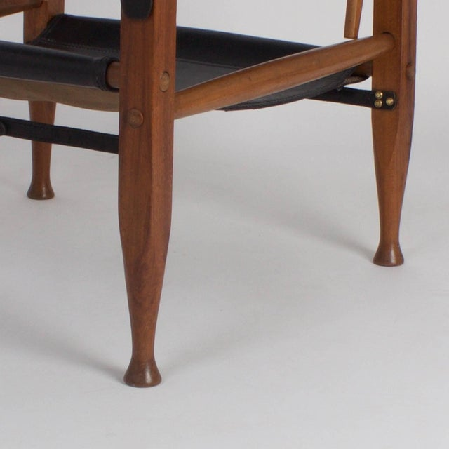 Wood Safari Chair and Ottoman - A Pair For Sale - Image 7 of 9