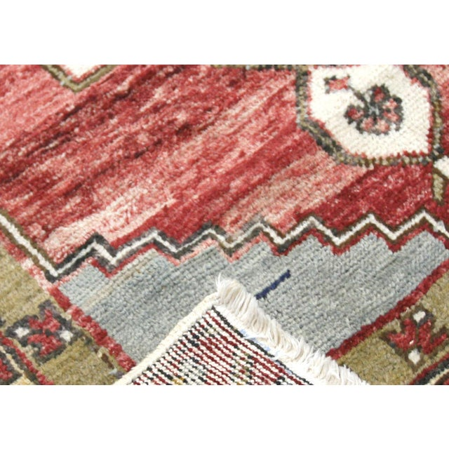 """1960s Turkish Oushak Rug 3'2"""" X 5'5"""" For Sale - Image 4 of 7"""
