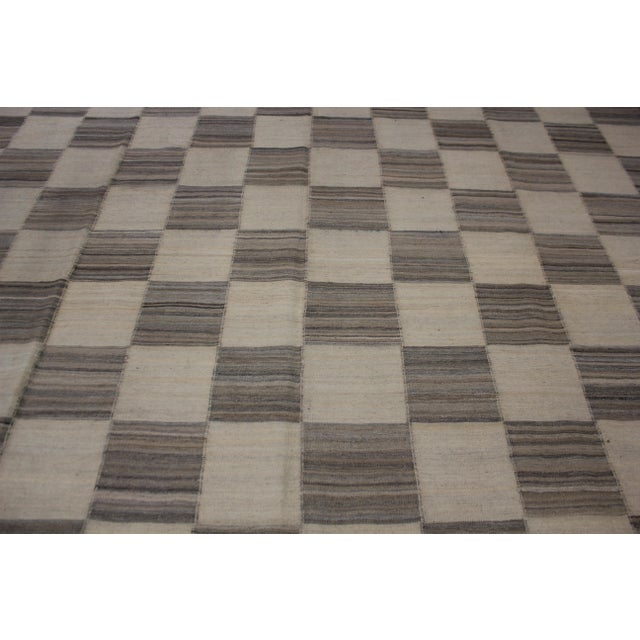 "Contemporary Aara Rugs Inc. Hand Knotted Modern Kilim - 12'9"" X 9'11"" For Sale - Image 3 of 5"
