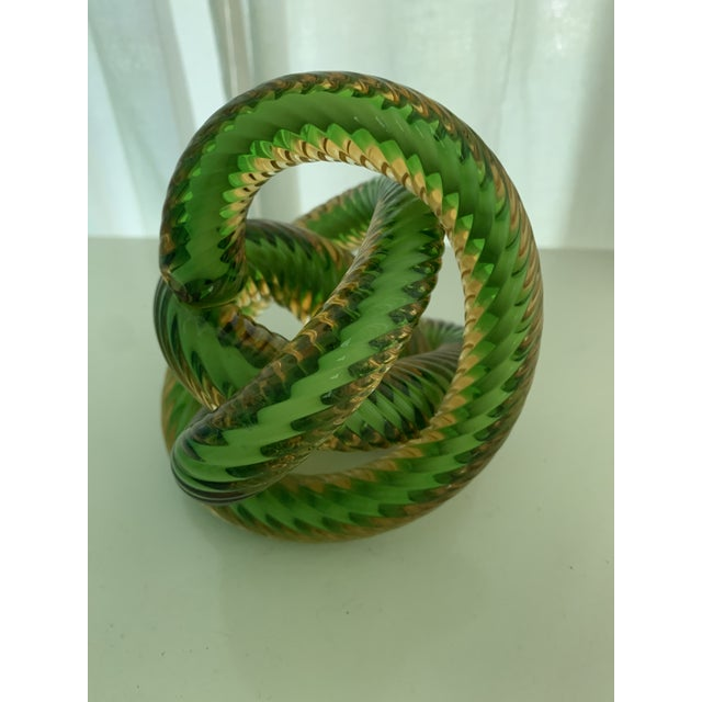Abstract Czech Republic Glass Knot by Fusion Z For Sale - Image 3 of 7