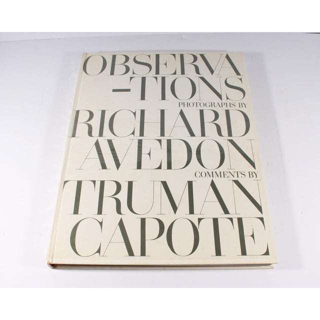 A copy of the book Observations with photographs from the American photographer Richard Avedon (1923-2004) and commentary...