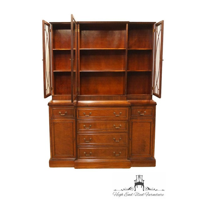1940's Vintage Duncan Phyfe Secretary China Cabinet For Sale - Image 4 of 11