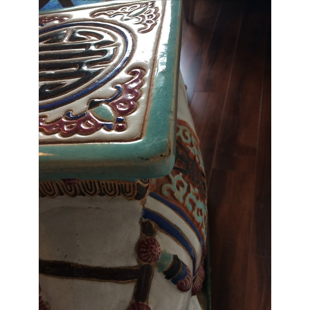 Vintage Asian Elephant Garden Stool or Side Table - Image 6 of 8