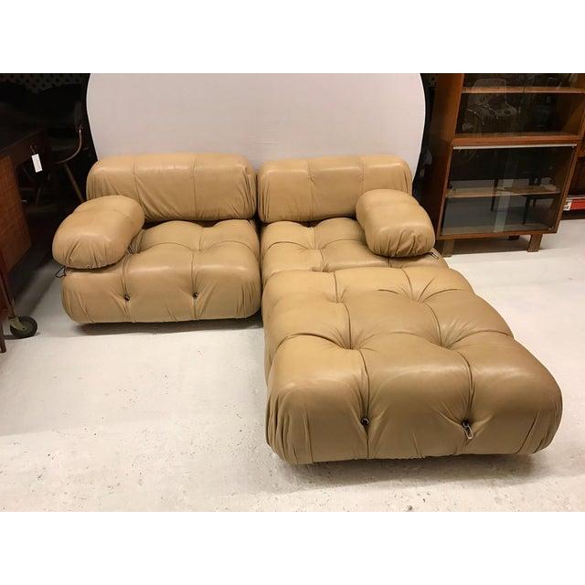 B&b Italia Camaleonda Mario Bellini All Leather Modular Sectional Sofa 3 Pieces For Sale - Image 11 of 11