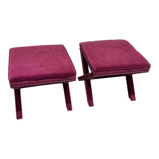 Modern Safavieh X Bench Stools- a Pair For Sale