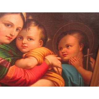 Antique Oil on Canvas After Raphael-Madonna and Child-19th Century Preview