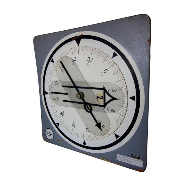 This is an enlarged radio magnetic indicator U.S. Naval training aid from the Naval Air Station in Corpus Christi, Texas,...