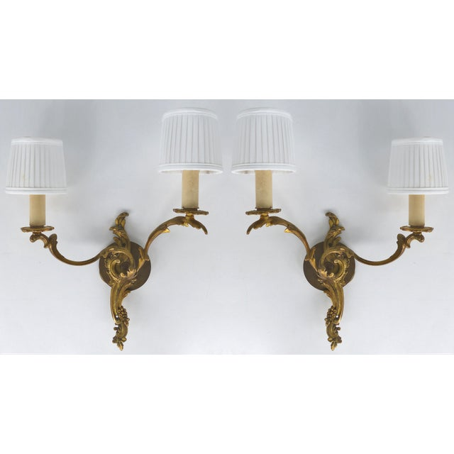C. 1900 French Bronze Wall Sconces- a Pair For Sale - Image 9 of 9