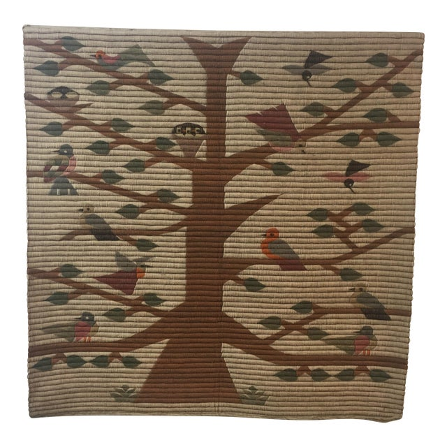 Vintage Tree of Life Wool Wall Hanging - Image 1 of 7