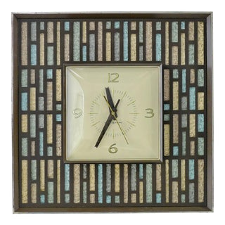 Mid Century Modern Eames Era General Electric Wall Clock For Sale